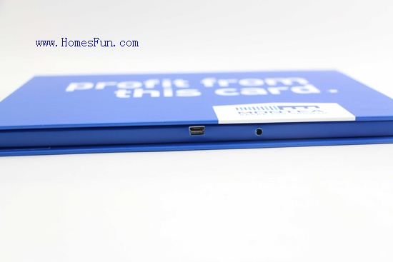 7.0inch video brochure in blue